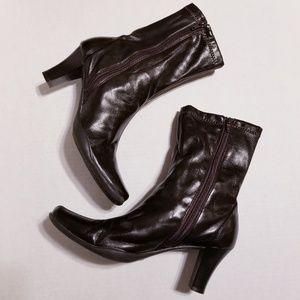 Aerosoles Vegan Leather Chocolate Brown Boots 8.5M